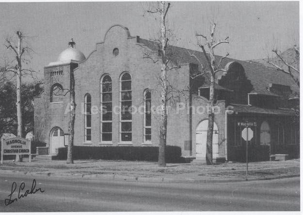 Item #131 Magnolia Ave Christian Church on Magnolia Ave on South Side. Photo by Les around 1972