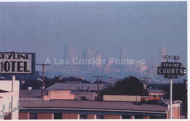 Item #124 View Of Fort Worth from Motel in North Side. Photo by Les