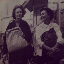 My mom on the right, Margaret Cook, and her best friend and my aunt, Wilma Cook. Contributed by Connie Fountain