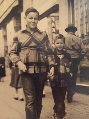 Gerald Sanders and James. About 1950 on City Streets. Contributed by David Durward.