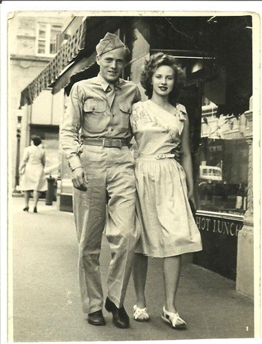 Attached is a Photo of my Father and Mother I think 1945 in Down Town Fort Worth Texas. Doyle Myers and Patricia Young Myers. Thank You, Douglas Myers