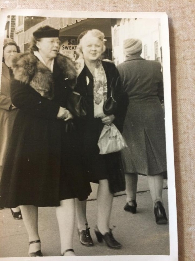 A blast from the past..... One of many, many candid photos of downtown Fort Worth shoppers back in the 40's/50's that were placed on post cards... This is my grandmother ( on left) Jessie & her BFF Lexie.... Contributed by Kathy Anderson
