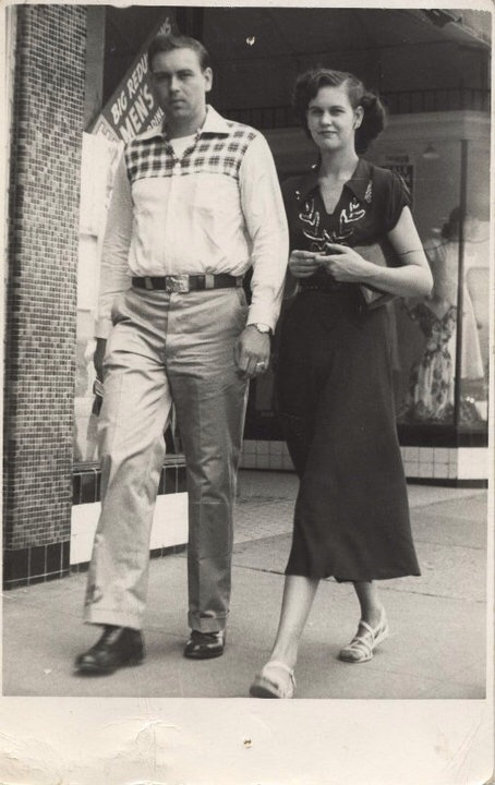 My Father, John L. Washington, Jr. and his sister, Joanne, downtown Fort Worth, June 13, 1951. My father was home on leave from the Army when this was taken. I love this picture! Courtesy of Lisa Washington Blake
