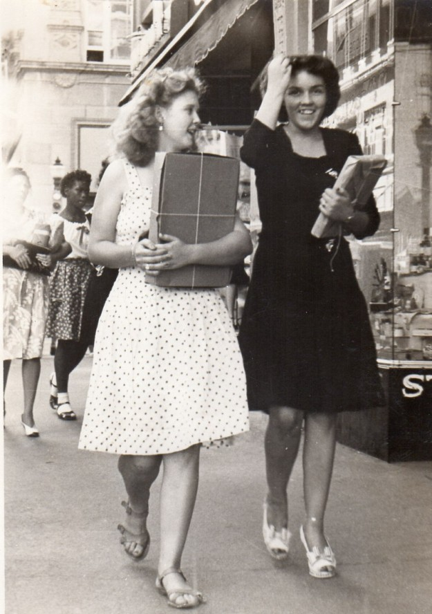 Dorothy Read and Bridget. Shopping in Downtown Fort Worth. Contributed by Lynn Todd.