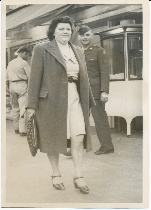 This is my favorite sidewalk photo of my mother, Mary Lillian Obeidin Hill. Contributed by Max Hill