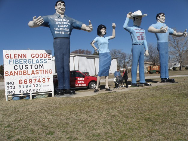 """The Fiberglass Man"" Glenn Good at 1651 FM 371 Walnut Bend Rd. Gainesville Tx."