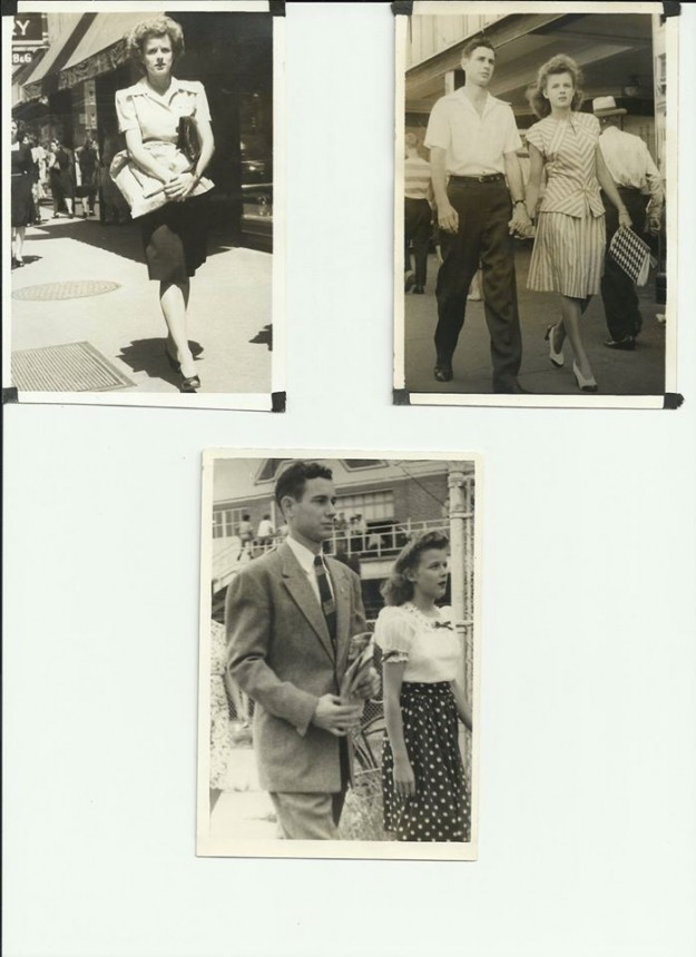 This is J.T. & Alice Sexton some time in the late 1940's. on the streets of Downtown Fort Worth. Contributed by Mike Sexton.