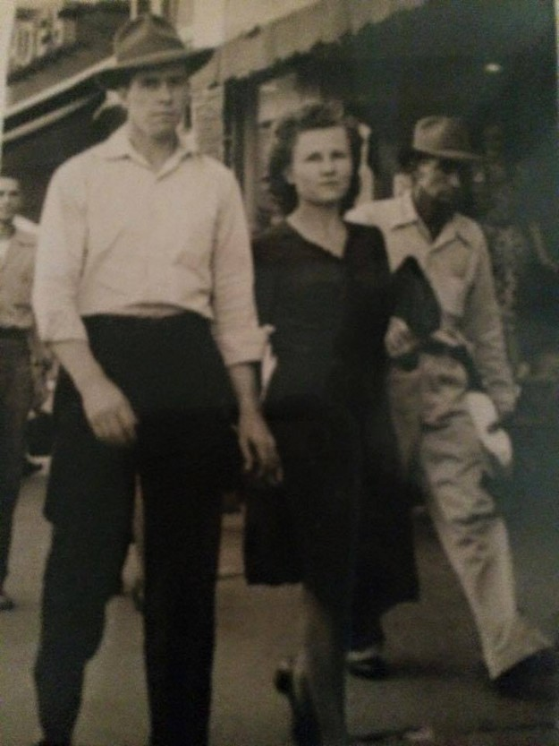 My grandparents taken downtown Fort Worth Andrew Morris Thomas & Mildred Thomas. Grandpa sure did like wearing hats. Contributed by Sheryl Winaski Stauffer.
