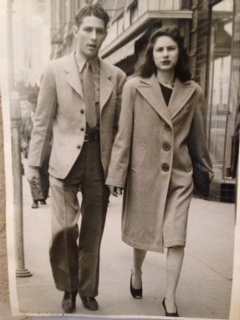 Robert & Lena Crocker Lee on Downtown Fort Worth Sidewalks.
