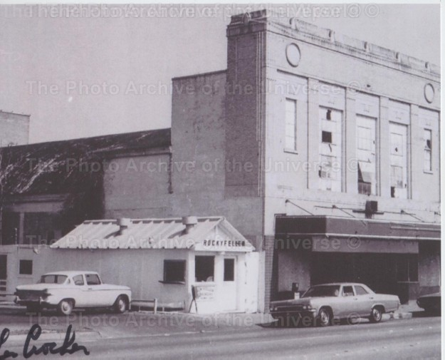 Item #112 The Tivoli Theater and Rockyfeller Dinner on Magnolia. Photo taken in 1972.