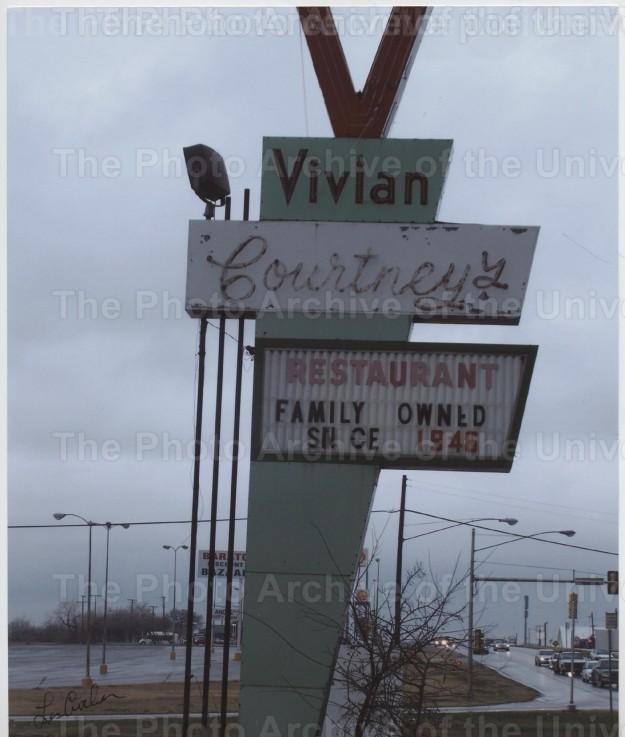 Item #4 Vivian Courtney's Restaurant Sign.