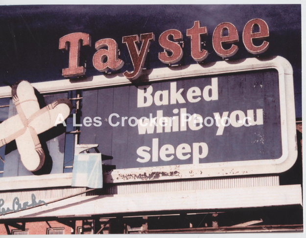 Item #119 Taystee Bread Company, Baked while you sleep. Was located on Henderson Street.