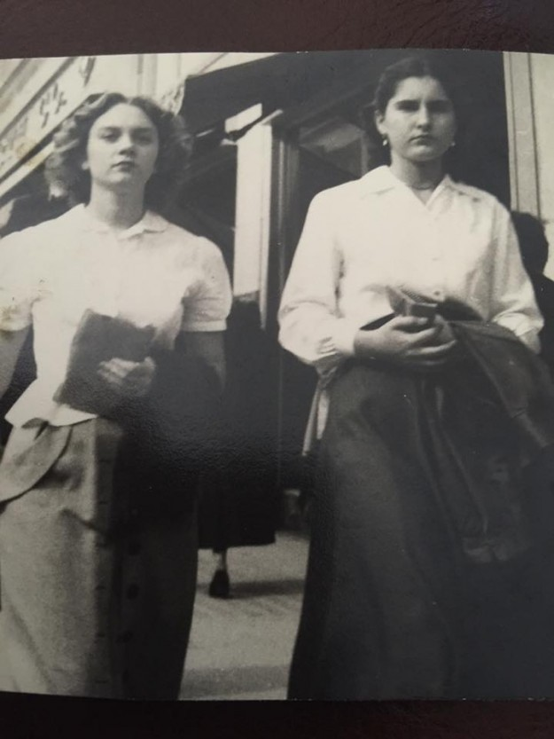 """My Mother, Lois Alvey on the left. Aynt Melby Batchelor 1952 on the right. Contributed by Barbara Alvey Bennett"