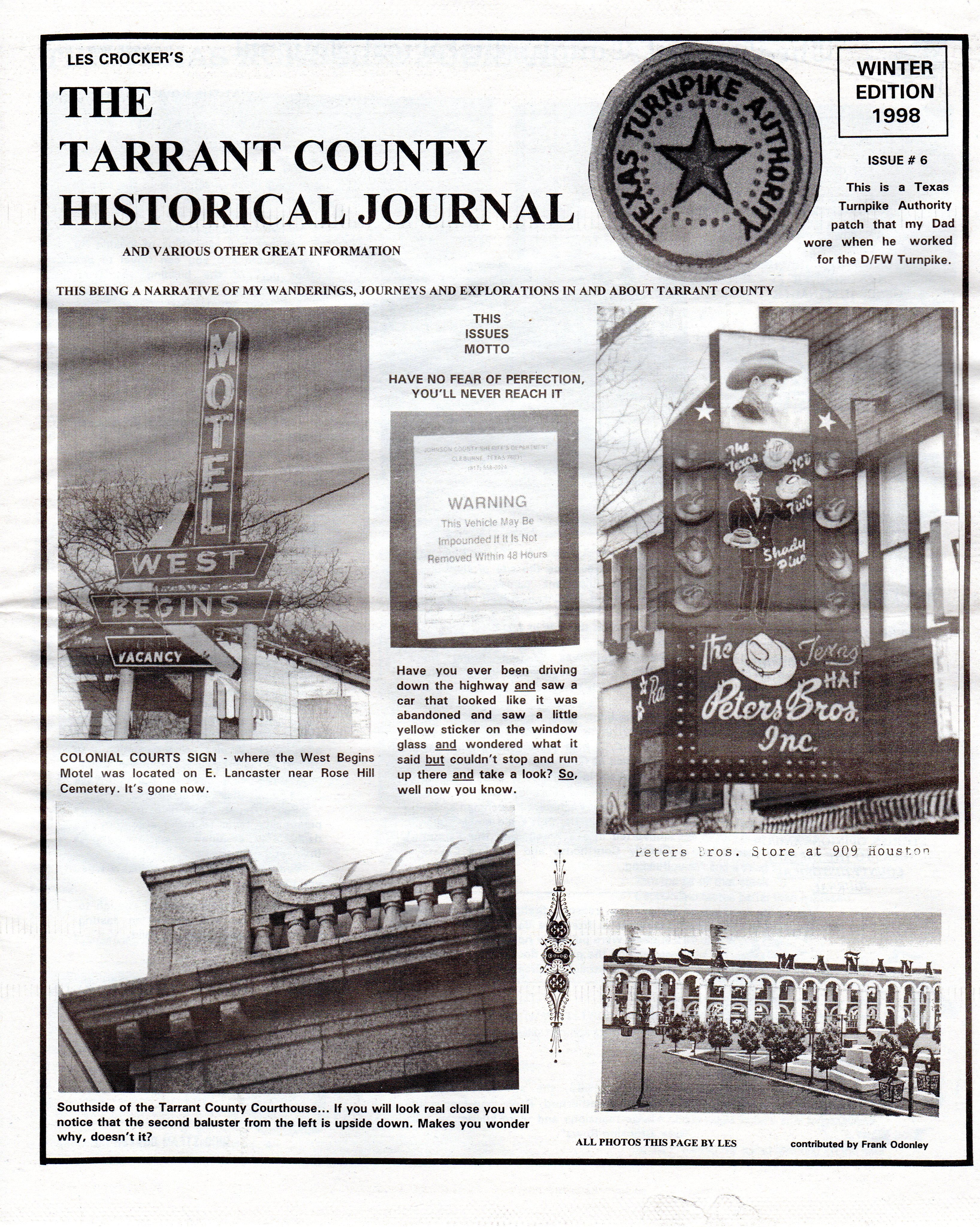 Tchj Editions 456 The Tarrant County Historical Journal