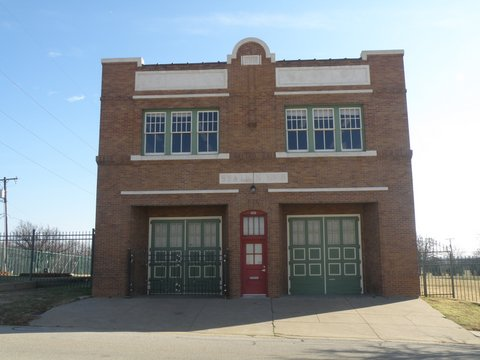 Fire Station No.5 Built 1911 sits just a block off S. Main St. at 503 Bryan Ave.