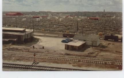 "The nationally known Stock Yards in ""Cowtown"" Fort Worth Texas, Where the West Begins."