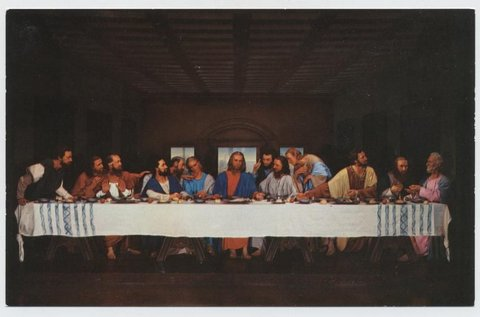 The Lords Supper. Being shown without charge by the Fleming Foundation 6209 Sunset Drive, Fort Worth.