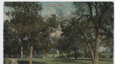 Trinity Park . This card published by S.H. Kress Co. Postcard mailed in 1911 and has a one cent stamp on it.