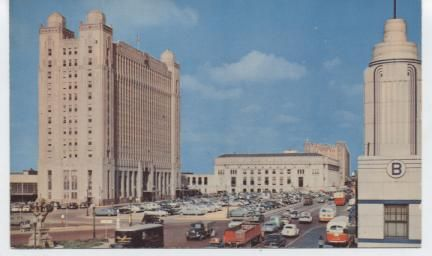 Texas Pacific and Post Office Plaza. Taken from Main and Lancaster Streets.