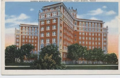 Methodist Hospital ,a nine story building costing $1,500.000. ,occupies an entire block, capacity 300 beds, one of the largest and most modern hospitals in the southwest.