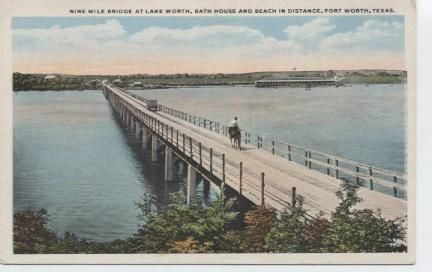 Nine Mile Bridge at Lake Worth ,Bath House and Beach in distance.