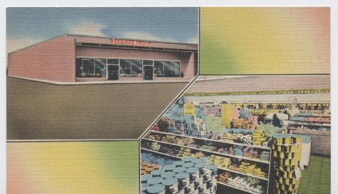 Wehring's Foor Store Richland Hills Shopping Center Hi-way 183, Fort Worth, Texas....A full color Post Card
