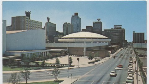 The Tarrant County Convention Center. Opened on Sept. 30th 1968.