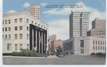 Civic Center showing City Hall and Public Library.