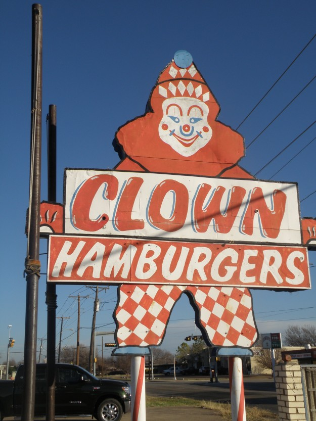 Clown Hamburgers Located on Haltom Road and Stanley Keller Rd.