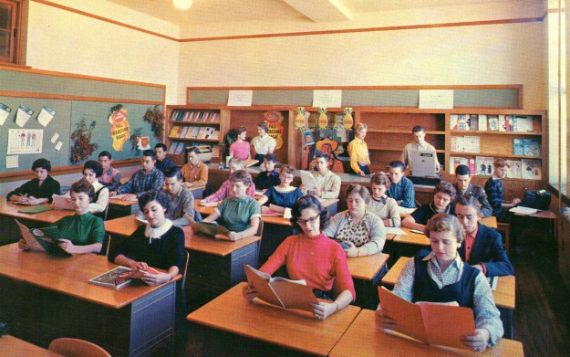 Modern Classroom With Students : Technical high school postcards the tarrant county