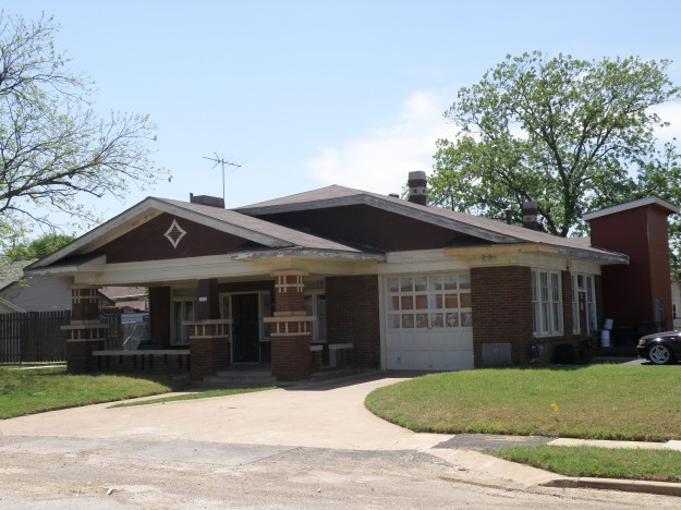Fire Station # 15, located at 1905 Belmont Ave North Side Fort Worth. Built in 1932 designed to blend in with the neighborhood. Photo taken by Les Crocker 4-23-14 at 1:25 PM.
